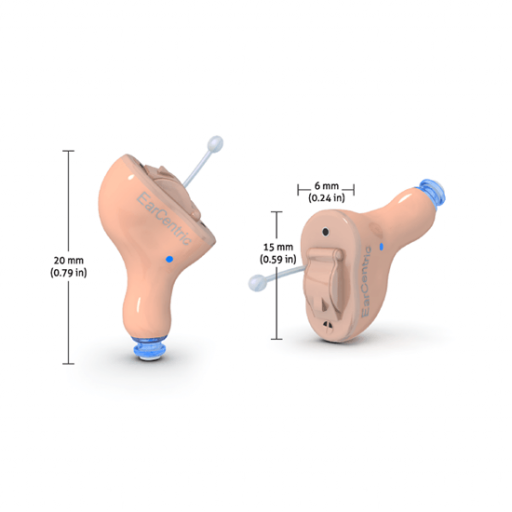 EarCentric NANO800 Hearing Aids Virtually Invisible Completely-In-Canal