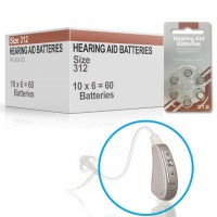 Hearing Aid Batteries for COMFORT® Hearing Aid - Size 312 (60 pcs)