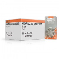 Size 13 Hearing Aid Batteries (box 60 pcs)
